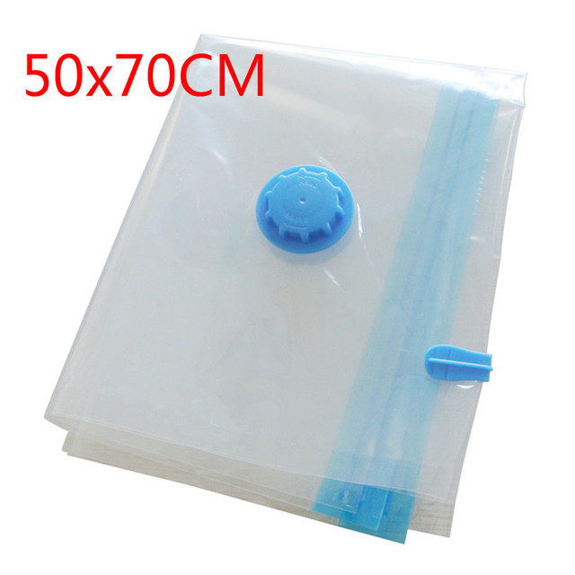 Vacuum Bag Storage Bag Home Organizer Transparent Border Foldable Clothes Compressed Seal Organizer Travel Saving Space Packet