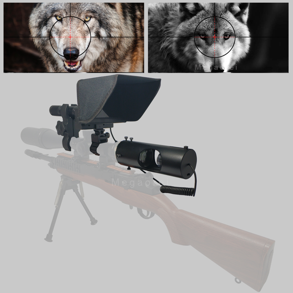 2020 New Hot Outdoor Hunting Optic Sight Tactical Riflescope Infrared Night Vision With Sunshade NEW LCD
