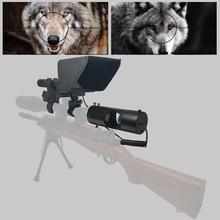 2020 جديد حار في الهواء الطلق الصيد البصرية البصر التكتيكية Riflescope الأشعة تحت الحمراء للرؤية الليلية مع ظلة جديد LCD