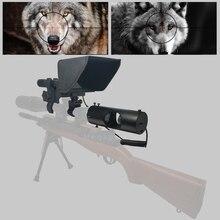 2020 nova caça ao ar livre quente mira óptica tático riflescope visão noturna infravermelha com pára sol novo lcd