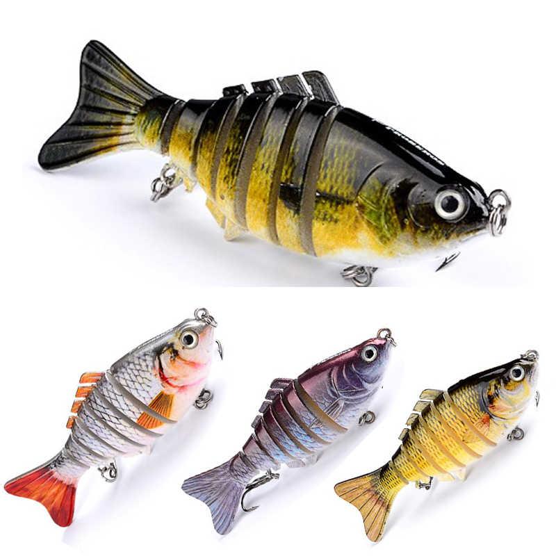 10cm 15,5g 6 Segmente Fischerei Locken Jointed minnow Swimbait Crankbait Künstliche Harten Köder 3D Augen Wobbler Höhen Haken