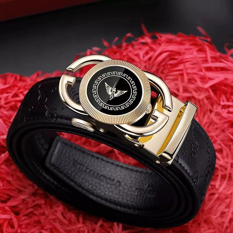 Genuine Leather Brand Belt Men Top Quality Genuine Luxury Leather Belts For Men Strap Male Metal Automatic Buckle