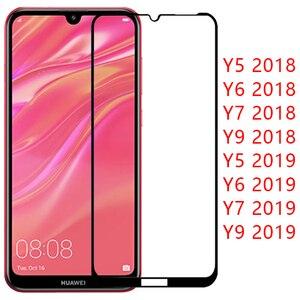 Чехол для huawei y5 lite y6 y7 pro y9 prime 2019 2018, защитная пленка из закаленного стекла на y 5 6 7 9, защитный чехол для телефона