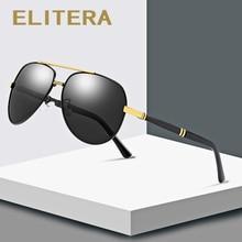 ELITERA High Quality Pilot Sunglasses Men Polarized UV400 Su