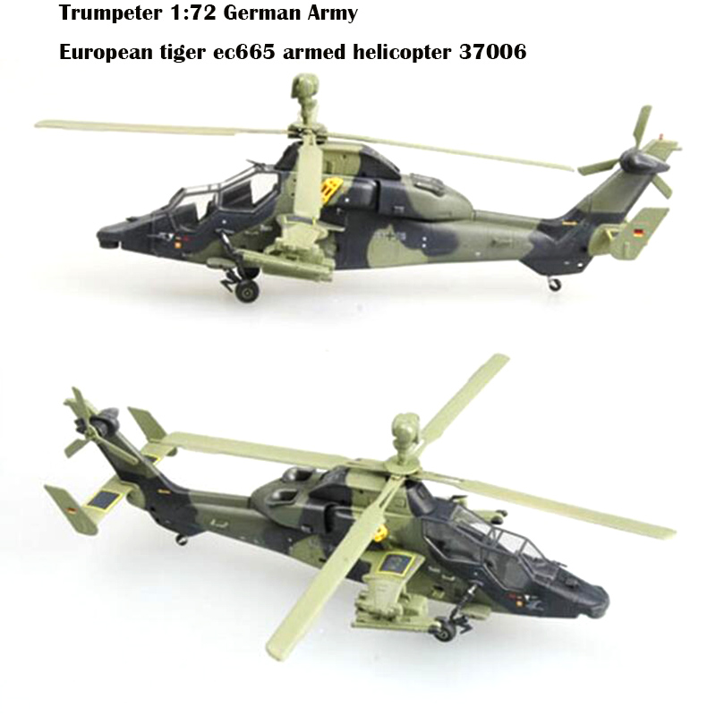 Trumpeter  1:72  German Army  European Tiger Ec665 Armed Helicopter  37006 Finished Product Model