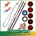 Забавная Лазерная Игрушка для питомца кота, креативная Интерактивная лазерная указка для зрения, лазерная ручка, USB перезаряжаемая указка д...