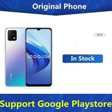 Em estoque vivo iqoo u3x 5g telefone inteligente impressão digital face id android 11.0 snapdragon 480 5000mah 6.58