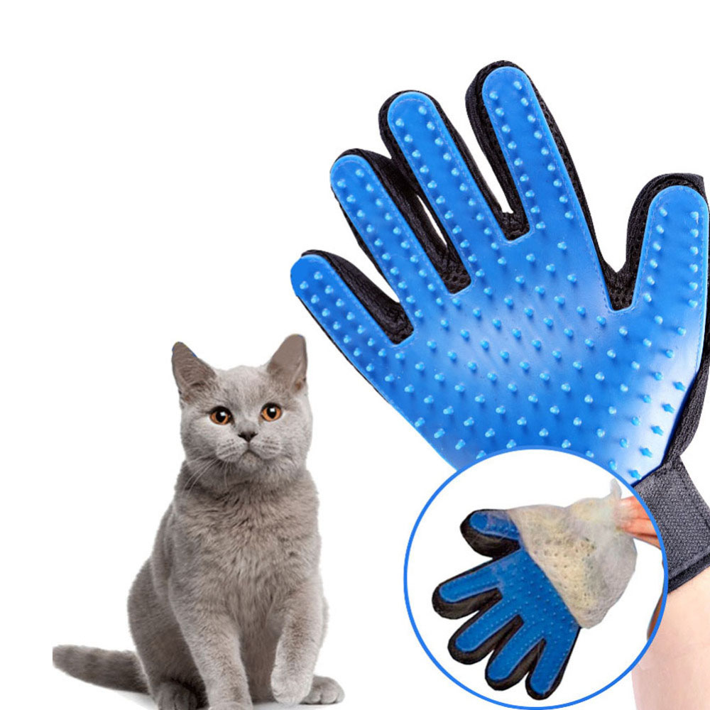 Cat grooming glove for cats wool glove Pet Hair Deshedding Brush Comb Glove For Pet Dog Cleaning Massage Glove For Animal Sale