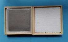 Indium Sheet Indium Foil Size: 100mm*100mm*0.05mm Laser Heat Sealing Coating Material