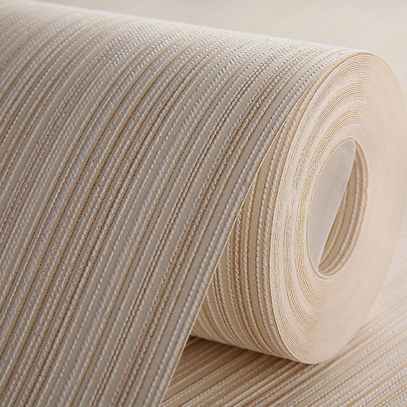 Light Pink Vertical Striped Wallpaper Bedroom Living Room Hotel Plain Color Modern Minimalist Solid Color Engineering Non-woven