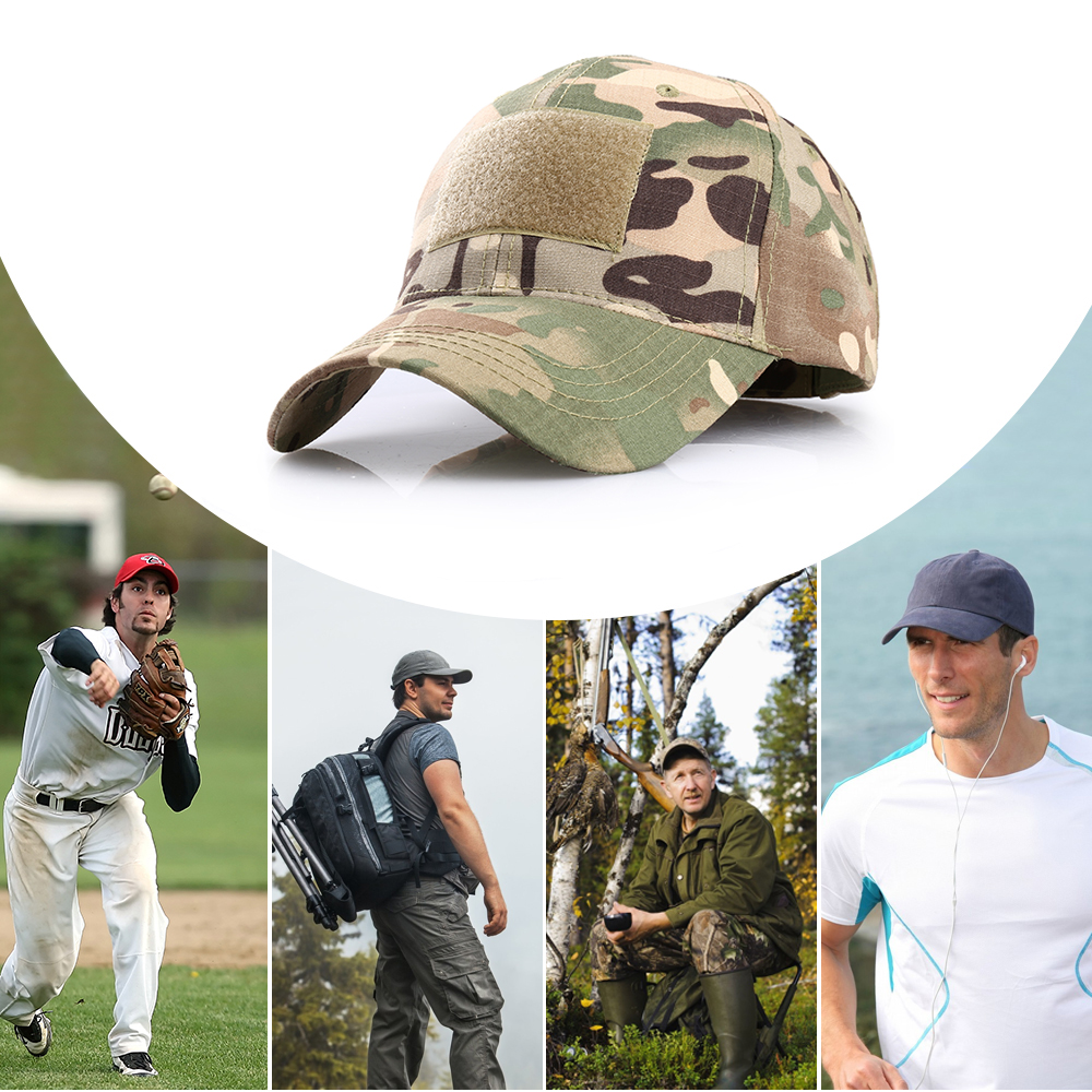 Outdoor Multicam Camouflage Adjustable Cap Mesh Tactical Military Army Airsoft Fishing Hunting Hiking Basketball Snapback Hat 16