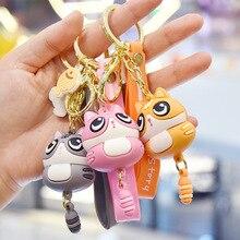 Cute Cat Kawaii Keychain Female Creative Car Key Pendant Couple Lovers Backpack Phone Lanyard Girl Gift Toy Doll Accessories