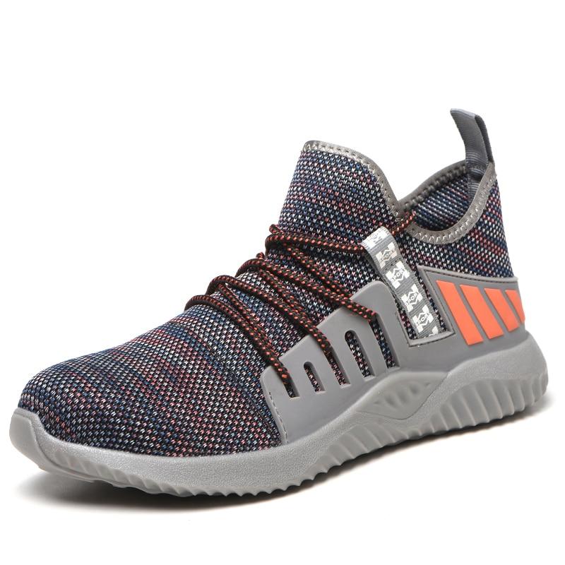 Новая Рабочая защитная обувь, модные кроссовки, ультра-светильник, мягкая подошва, мужские, дышащие, не разбивающиеся, промышленные, со стальным носком, рабочие ботинки - Цвет: cai su2008