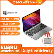 Teclast F7 Plus ноутбук, экран 14,1 дюймов, Windows 10 1920x1080, четырёхъядерный