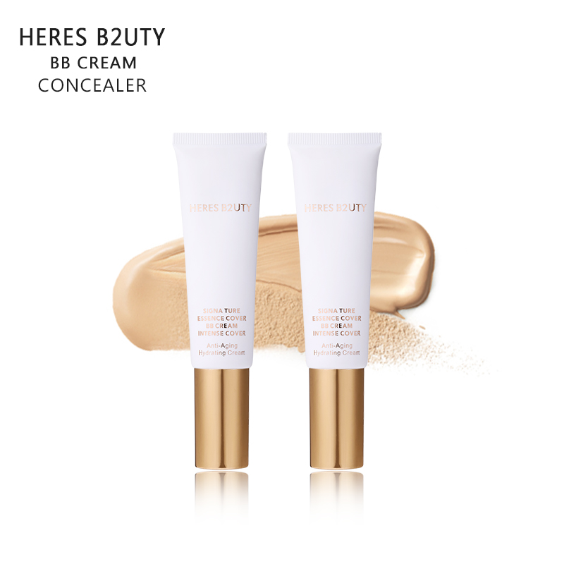 HERES B2UTY BB Cream Concealer Moisturizing Foundation Base Makeup Bare Whitening Easy To Wear Face Beauty Cosmetics