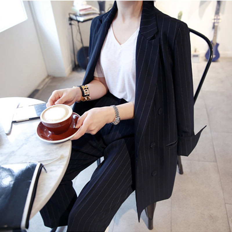 Women's Suit Jacket New Fashion Autumn Simple Casual Set Women Blazer And Pants Tops Chaqueta Mujer Formal LX2159