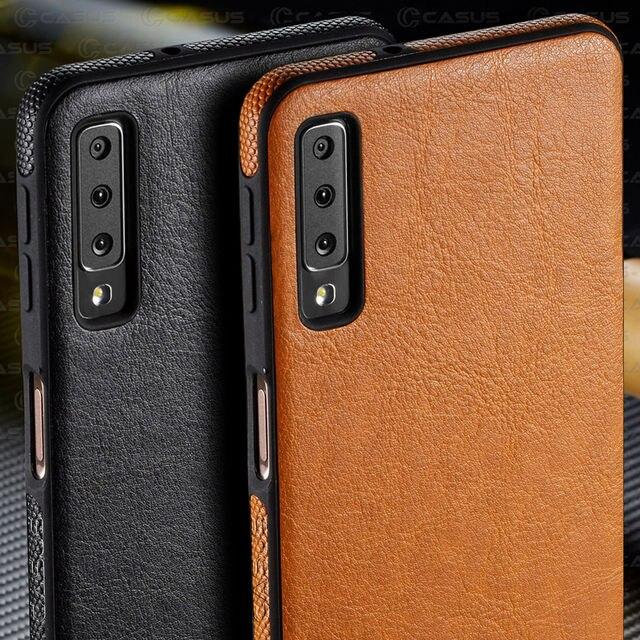 For Samsung Galaxy A10 A50 Case Luxury Vintage PU Leather Back Thin Cover Case For Samsung Galaxy A30 A40 A70  M10 M20 Case
