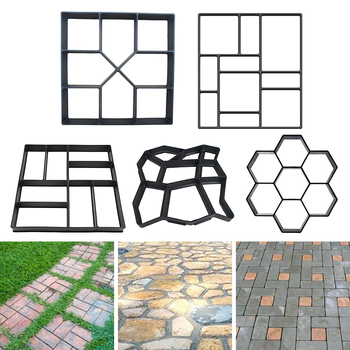 Manually Paving Cement Brick Concrete Molds DIY Plastic Path Maker Mold Garden Stone Road Mold Garden Decoration cement garden