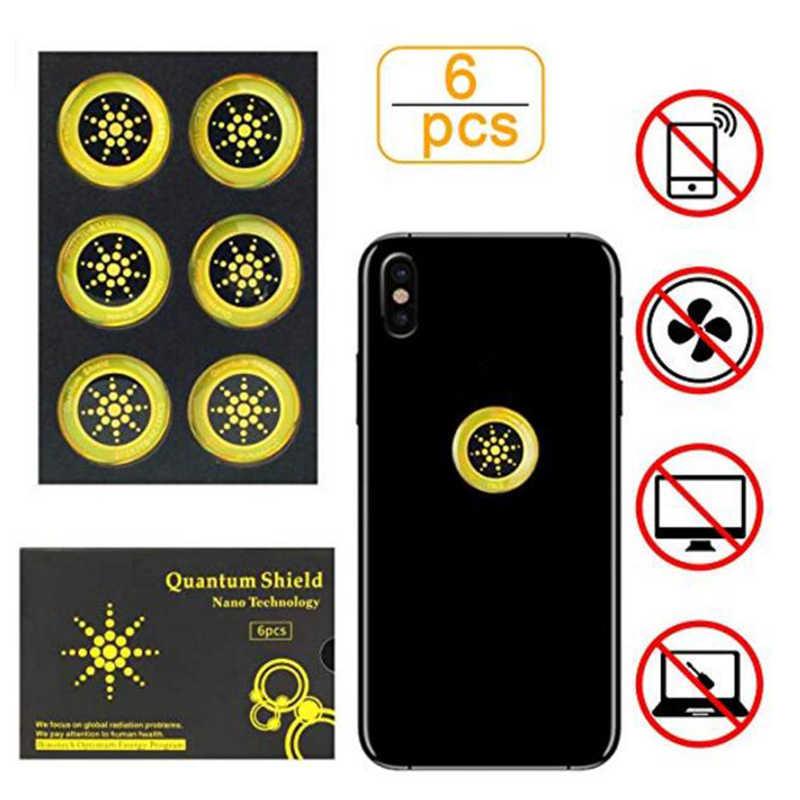 6 قطعة/المجموعة مكافحة الكهرومغناطيسي موجة ملصقا ملصقات الهاتف المحمول ل هاتف محمول من EMF فيوجن اكسل المضادة للإشعاع حماية
