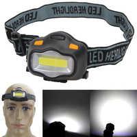 Mini oświetlenie zewnętrzne lampa czołowa 12 cob led reflektor na Camping piesze wycieczki wędkowanie czytanie działania lampy błyskowe reflektor