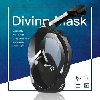 Diving Mask Underwater Anti fog panoramic Full Face Snorkel Women Men Kids Swimming Snorkeling Mask Scuba Goggles Camera Mount