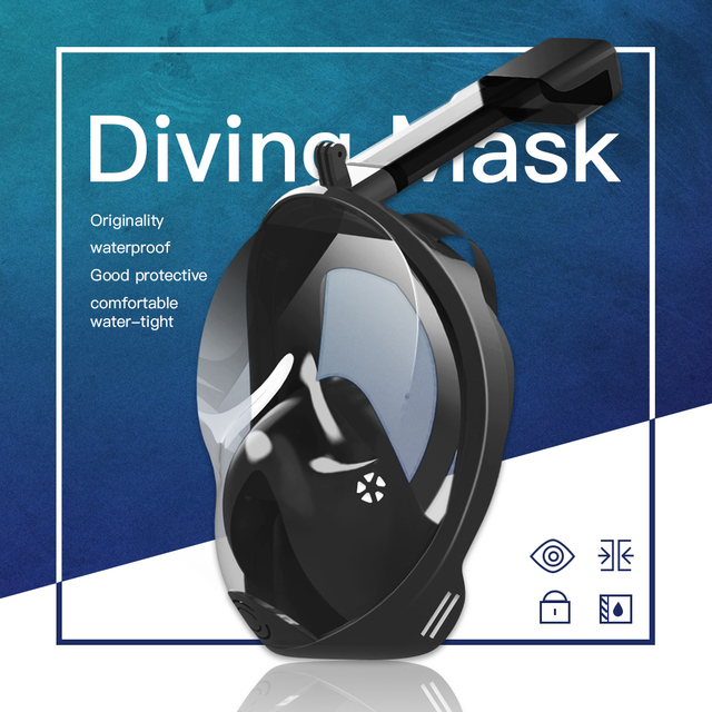 Diving Mask Underwater Anti fog panoramic Full Face Snorkel Women Men Kids Swimming Snorkeling Mask Scuba Goggles Camera Mount