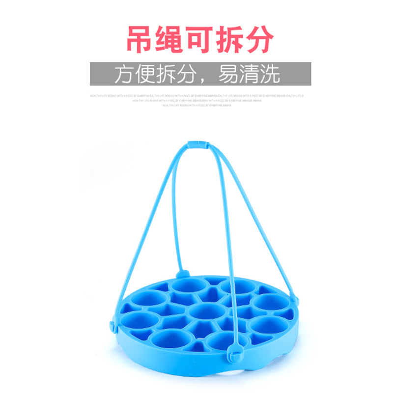 Food Grade Three-in-One Silicone Steamer Egg Steamer Insulation Pad High-temperature Resistant Easy To Cleaning Can Get Into Dis