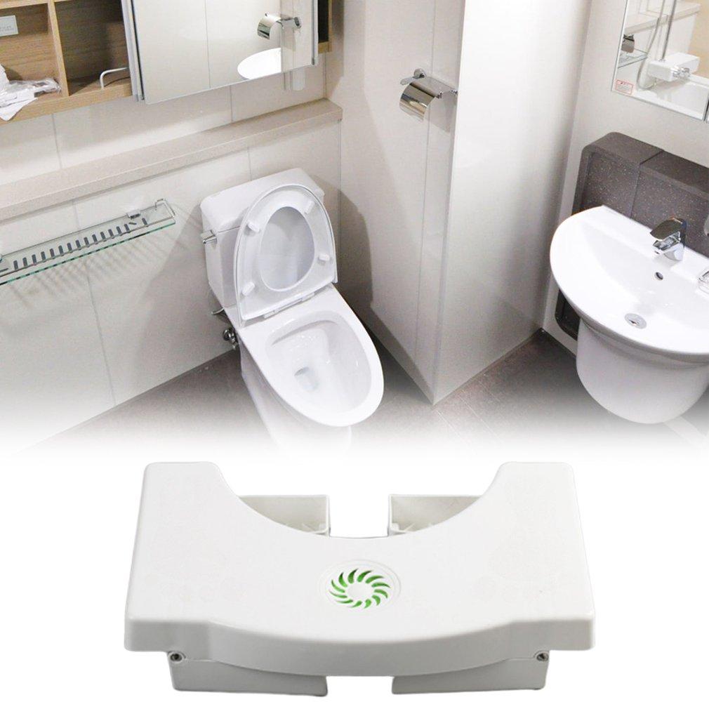 Toilet Pedestal Stool Folding Bathroom Stool...