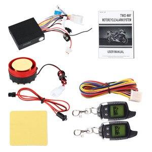 Image 5 - İki Yönlü Motosiklet Hırsız Alarm Sistemi Güvenlik Uyarısı Su Geçirmez Alarma Moto LCD Ekran Yanıp Sönen Işık Alarmı Uzaktan Kumanda