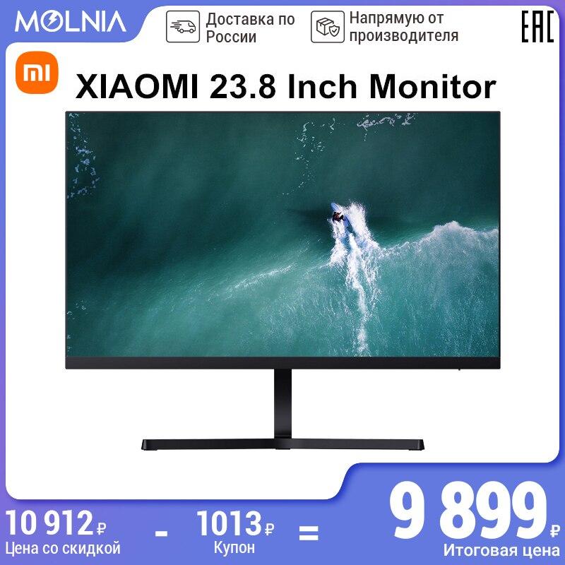 монитор компьютерный XIAOMI 1920*1080 23,8 дюйма Full HD Игровой монитор IPSдисплей Яркость с портом питания HDMI для ПК MOLNIA