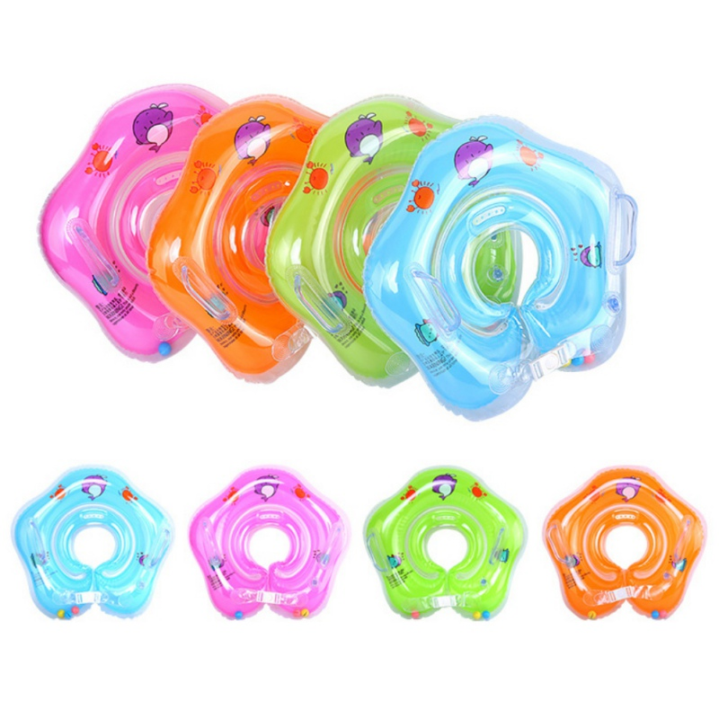 2019 Fashion Newborn Floats Swim Ring Baby Neck Ring Inflatable Toys Infants Young Childrens Inflatable Wheel For Navigation Floating Ring Attractive Designs;
