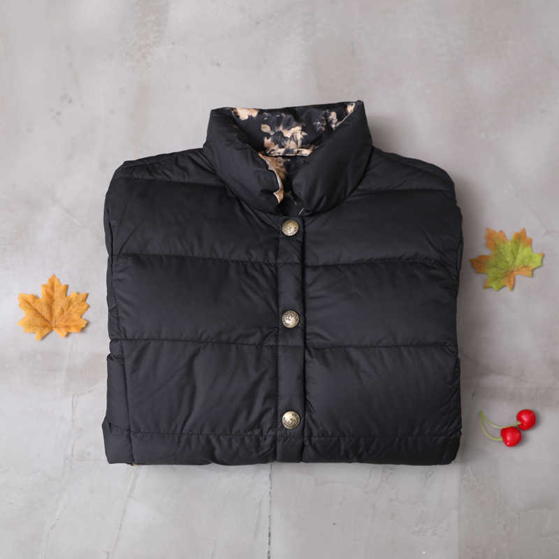 Herbst winter retro stil weiße ente unten mantel weibliche stehkragen gedruckt warme unten mäntel weichen, flauschigen unten jacke parkas f333