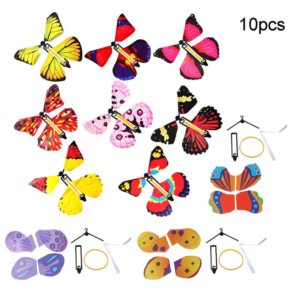 Cartão de presente da surpresa mágica do cartão da borboleta do vôo de 10 pces Truques de mágica    -