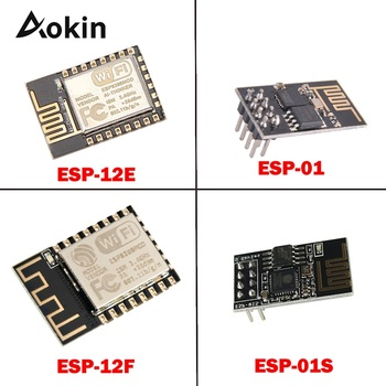 цена на ESP8266 ESP01S ESP12E ESP12F ESP-12E ESP-01 ESP-01S ESP01 ESP-12F Remote Serial Port WIFI Wireless Module 3.3V SPI For Arduino