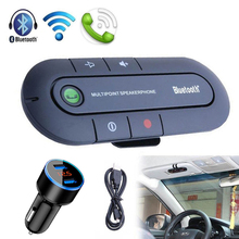 цена на Handsfree Bluetooth Car Kit Wireless Bluetooth Stereo Speaker Phone MP3 Music Player Bluetooth Transmitter With Dual USB Charger