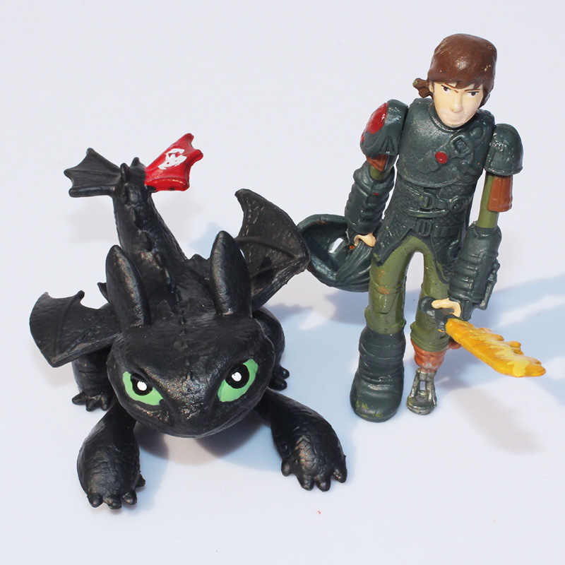8 3 pçs/set Como Treinar O Seu Dragão Fúria Da Noite Desdentado Dragão PVC Figuras de Ação Figuras Modelo Brinquedos Dos Miúdos Das Crianças presente