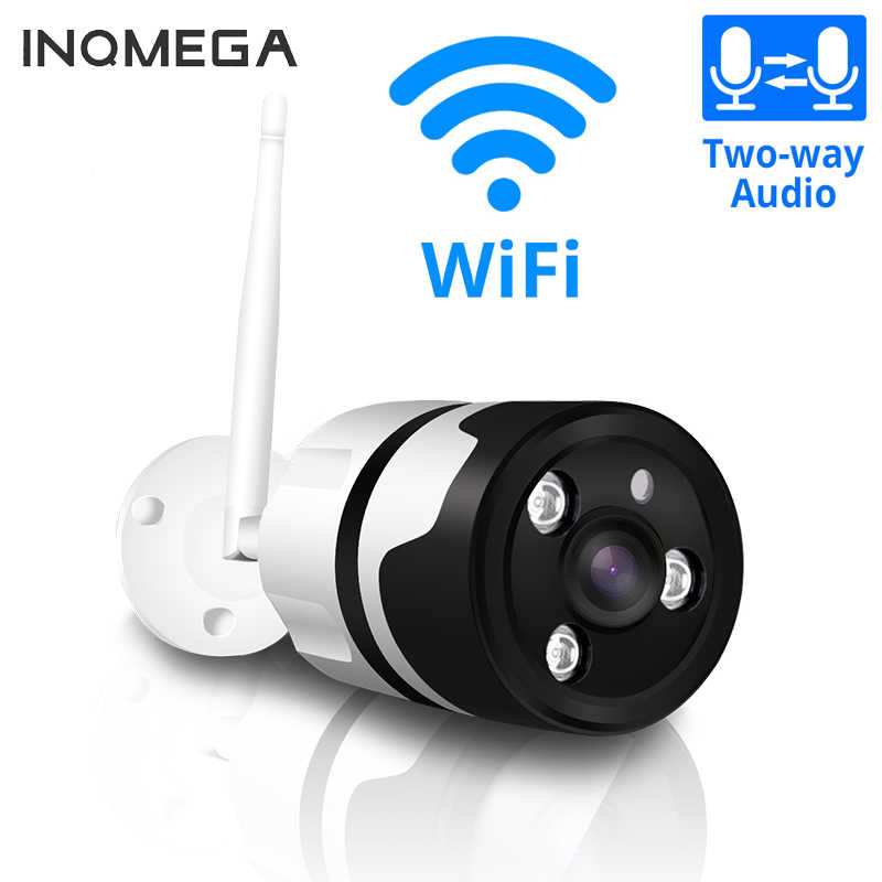 Inqmega HD Wifi Outdoor Ip Kamera 1080P 720P Tahan Air 2.0MP Nirkabel Kamera Keamanan Dua Cara Audio TF Kartu catatan P2P Peluru