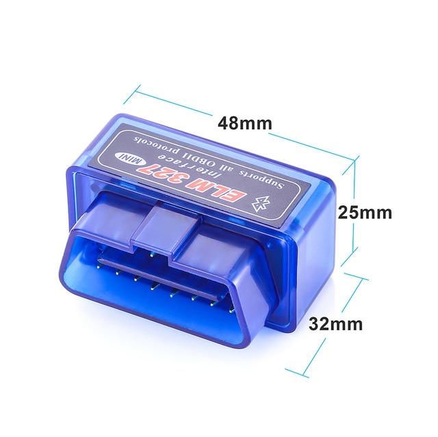 OBD2 V1.5 Elm327 Bluetooth V 1.5 OBD 2 Elm 327 Voiture Outil de Diagnostic Scanner Elm-327 OBDII Adaptateur Super Mini Outil De Diagnostic Automatique 2