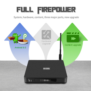 Image 3 - Lettore multimediale astuto di MECOOL K7, Android 9.0 TV Box 4G 64G Amlogic S905X2 2.4G/5G WiFi USB 3.0 TV Box