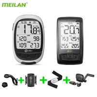 Meilan M2 M4 Wireless Bicycle Speedometer Bluetooth ANT+ Bike Computer Heart Rate Monitor Cadence Speed Sensor Cycling Stopwatch