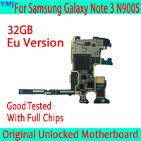 32GB for Samsung Galaxy Note 3 N9005 Motherboard,Original unlocked for Samsung Note 3 N9005 Mainboard with Full Chips,EU Version