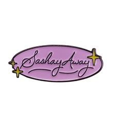 SASHAY AWAY esmalte suave Pin Rupauls Drag Race Queen Katya zamolodchiova LGBT RPDR All Stars Badge