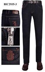 BILLIONAIRE Jeans männer 2019 Winter neue baumwolle Rindsleder Mode Business casual stickerei Dicke qualität geben shippng