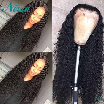 Newa Hair 360 Lace Frontal Wig Pre Plucked With Baby Hair Brazilian Remy 180% Curly Lace Frontal Human Hair Wigs For Black Women - DISCOUNT ITEM  45% OFF All Category