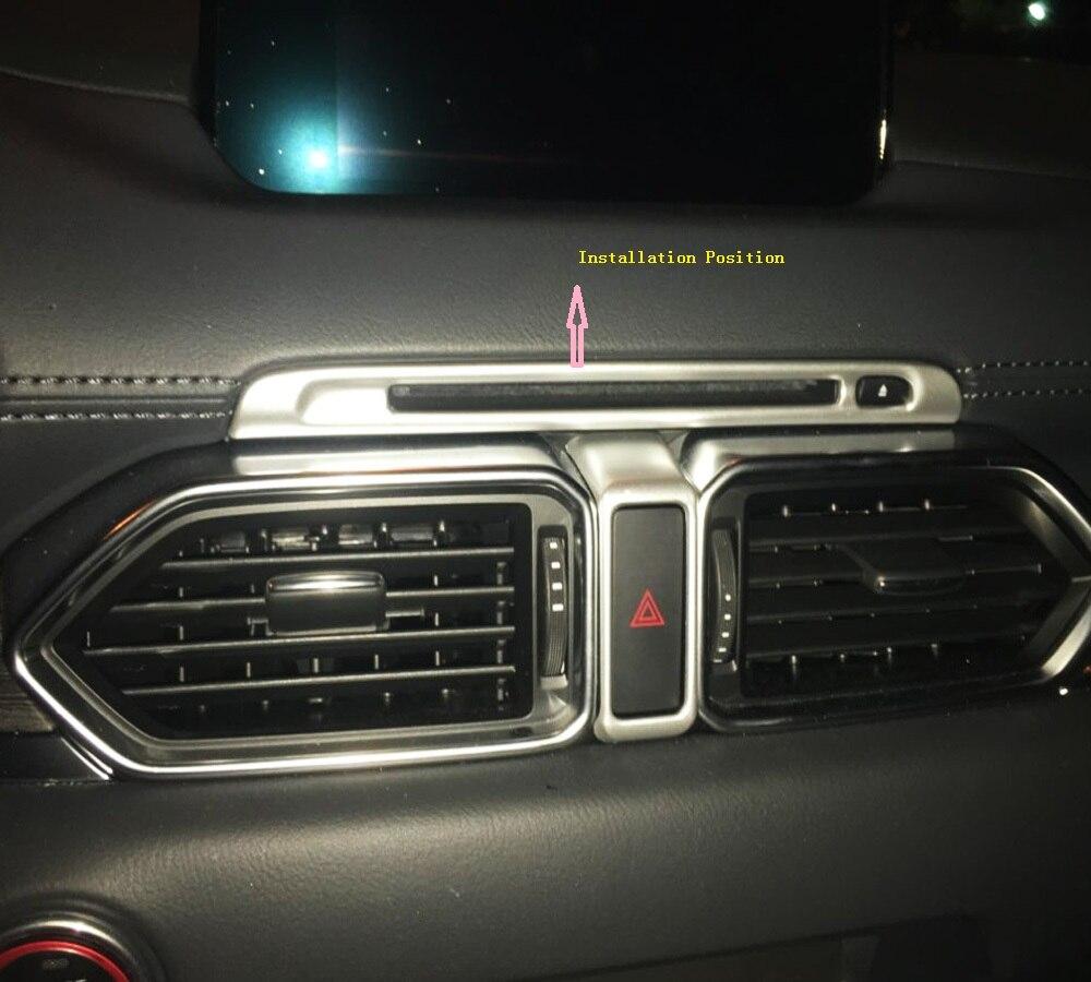 Para mazda CX-5 cx5 kf 2017 2018 2019 acessórios interiores abs plástico cd painel de controle proteção capa guarnição estilo lhd