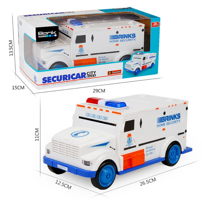Novelty Gag Toys Safe Truck Digital Piggy Bank Kids Toy Saving Deposit Electronic Boxes Infant Children Cash Car Coin Toys