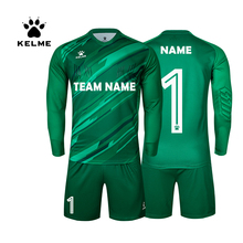 KELME Custom Football Jerseys Goalkeeper Jersey Men Long Sleeve Football Uniform Soccer Shorts Traning Sponge Protector 3801286