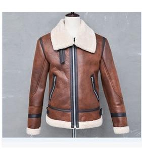 Image 3 - Warm Winter Motorcycle Faux Leather Jacket Mens PU Leather Jackets Fashion Street Style Masculina Mens Leather Coats Plus Size