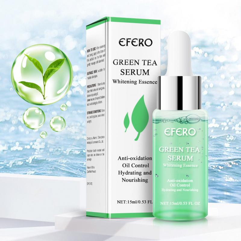 15ml Face Cream Shrink Pores Anti Aging Green Tea Serum Essence Wrinkle Removal Nourishing Skin Care Collagen Firming Lifting