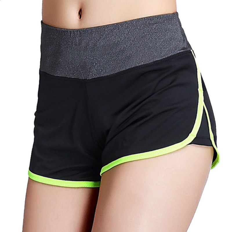 Waistband Shorts Running Women 1pcs Elastic-Waist Fitness Skinny Solid-Workout Summer